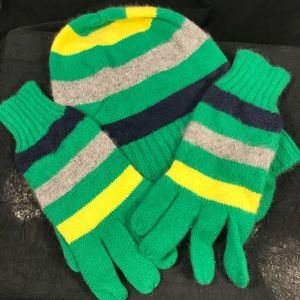J. Crew hat and matching gloves